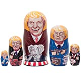 Golden Cockerel President Trump Campaign Russian Style Nesting Dolls - from 6.5'' - 2'' Tall
