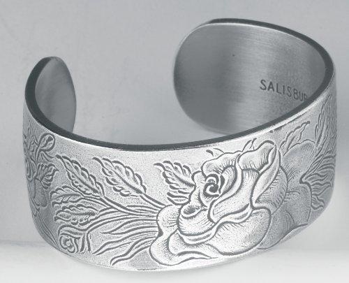 Pewter Flower of the Month Bracelet - Jun Month Pewter Bracelet