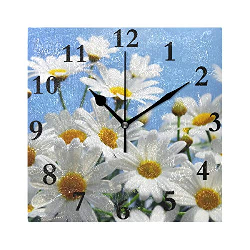 Wall Clock Flower References On Pinterest Silent Non Ticking Decorative Square Digital Clocks Indoor Outdoor Kitchen Bedroom Living Room