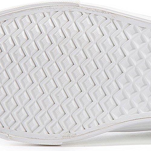 40 da YaNanHome ginnastica uomo basse Scarpe Color Espadrillas scarpe Gray coreane di uomo Size tela da da scarpe Bianca Scarpe 7wr7UnBqO