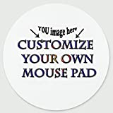 design your own mouse pad - Personalized Round Mouse Pad - Add Pictures, Text, Logo or Art Design and Make Your own Customized Mousepad - Gaming, Office, Mousepad.