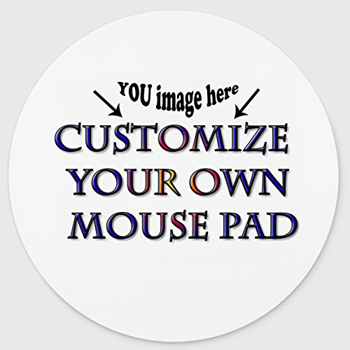 (Personalized Round Mouse Pad - Add Pictures, Text, Logo or Art Design and Make Your own Customized Mousepad - Gaming, Office, Mousepad.)