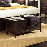 A-America WSLDM5800 Westlake Cedar-Lined Blanket Trunk, Dark Mahogany Finish