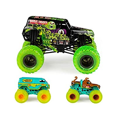 Monster Jam Curse of The Gasoline Diecast Car 3-Pack: Toys & Games