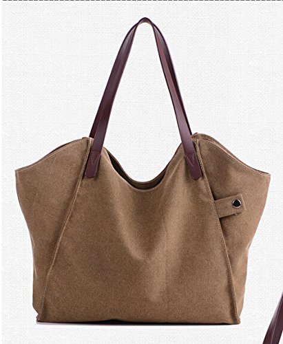 Handbag Brown Bageek Tote Handbags Bag Women Bag Women's Canvas for Tote Large Hobo Women Stylish Retro 8nwTZxq8r