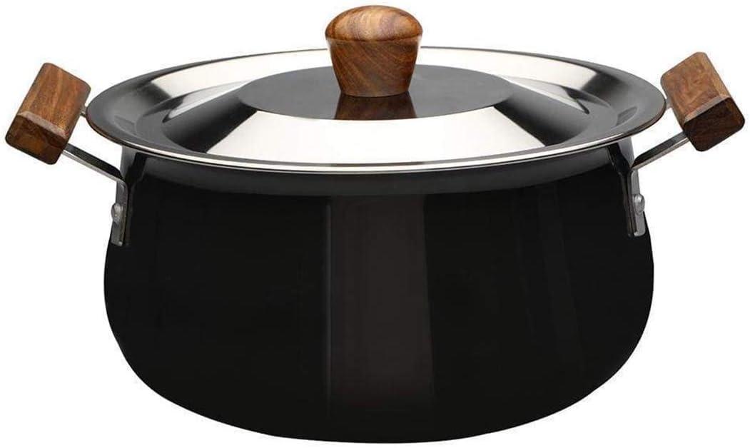وعاء طهي مع غطاء من الألمنيوم المطلي بطبقة أكسدة، 3.5 لتر/21 سم، أسود/بني من وندرشيف