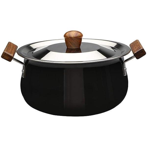 صينية مع غطاء من الألومنيوم المطلي بطبقة أكسدة، 3.5 لتر/21 سم، أسود/بني من ووندر شيف