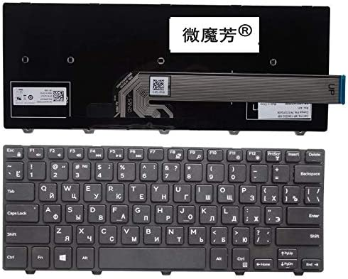 RU Black New FOR DELL 14-5447 14C 14M 3000 3441 3451 3442 N3442 Laptop Keyboard Russian