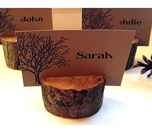 50 Wedding wood escort/place card holder