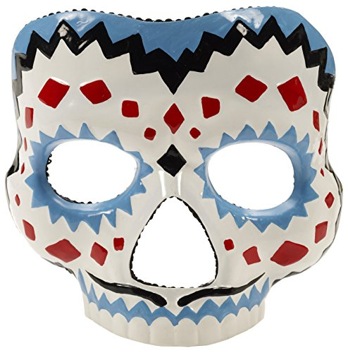 Forum Novelties Men's Day Of The Dead Male Mask, Multi, One Size - Day Of The Dead Sugar Skull Costumes