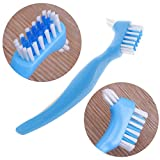 BKID Y-Shape Dedicated Denture Double Brush Teeth Oral Care