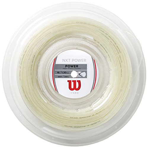 Wilson NXT Power Synthetic Gut Tennis String Reel, 16 Gauge (Natural) (Natural Wilson Gut)