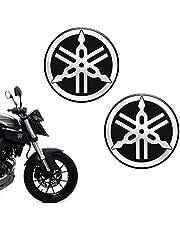 Par De Emblemas Logo Yamaha Moto Tanque 55mm Resinado