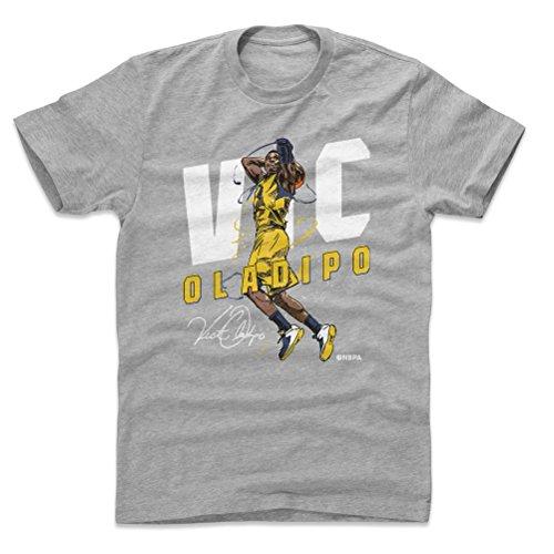 (500 LEVEL Victor Oladipo Cotton Shirt Medium Heather Gray - Vintage Indiana Basketball Men's Apparel - Victor Oladipo Slam Y WHT)