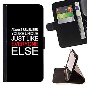 Momo Phone Case / Flip Funda de Cuero Case Cover - ?nico Everyone Else Cita gente especial - LG G2 D800