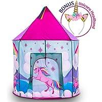 Unicorn Pop Up Kids Tent - Unicorn Play Tents for Girls...