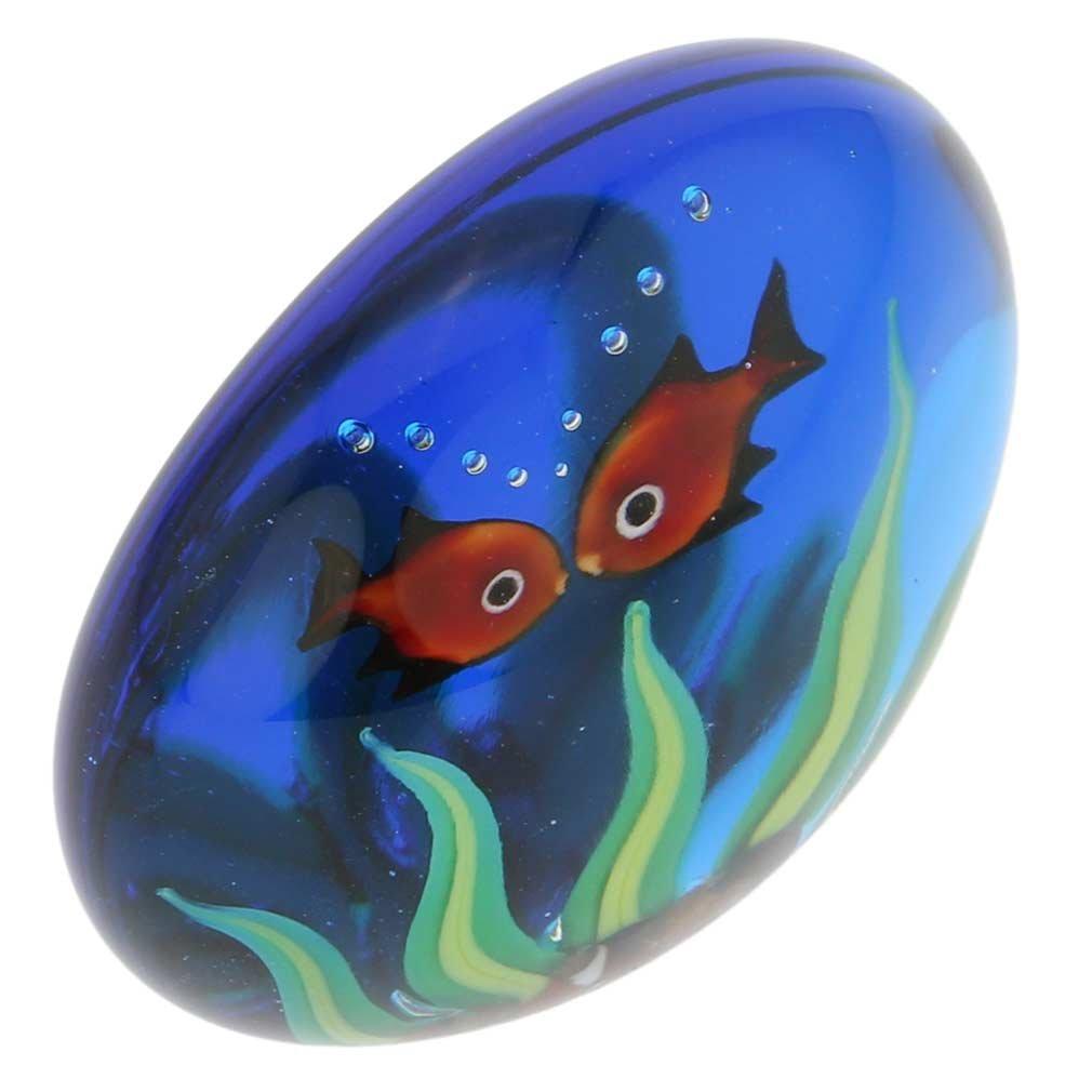 Amazon.com: GlassOfVenice Murano Glass Aquarium With Goldfish: Office Products