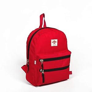 Lee Cooper 23054 Sırt Çantası Çizgili, Kırmızı