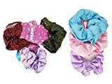 SCRUNCHIE VELVE HAIR BAND 3PC/SET ASST COLOR , Case of 288