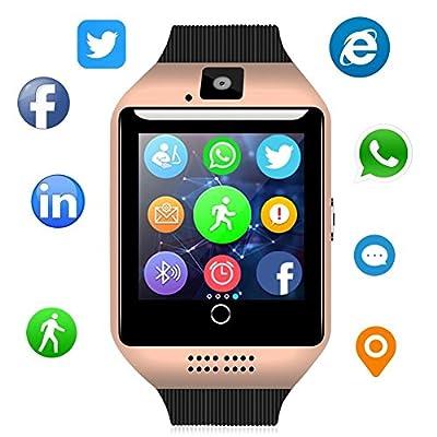 Bluetooth Smart Watch - WJPILIS Touch Screen Smartwatch Smart Wrist Watch Phone Fitness Tracker SIM TF Card Slot Camera Pedometer iOS iPhone Android Samsung LG Women Men Kids