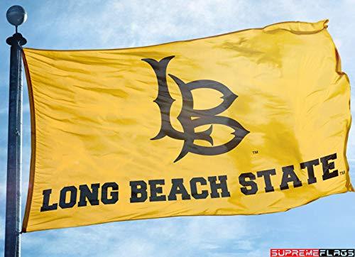 CSULB Flag Banner 3x5 ft California State University Long Beach 49ers Yellow ()