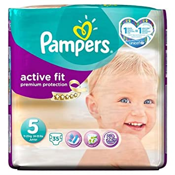 Pampers Active Fit Couches Couches Taille 5 Essential Pack 35