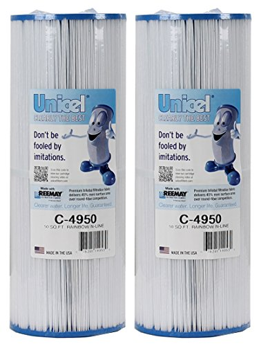 Unicel C-4950 (2 Pack) Pool/Spa Filter Replace Jacuzzi Cartridge, 50 sq. ft.
