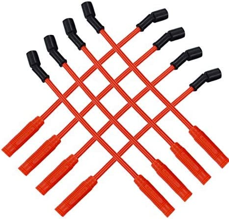 Wire Sets 10.2mm Red Spark Plug Wires Set Fit For Chevy Gmc Truck ...
