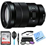 Sony SELP18105G - E PZ 18-105mm f/4 G OSS Power Zoom Lens Bundle includes 18-105mm f/4 Mid-Range Zoom Lens, 16GB SDHC Memory Card, 72mm Deluxe Filter Kit, Dust Blower, Lens Cleaning Pen and More