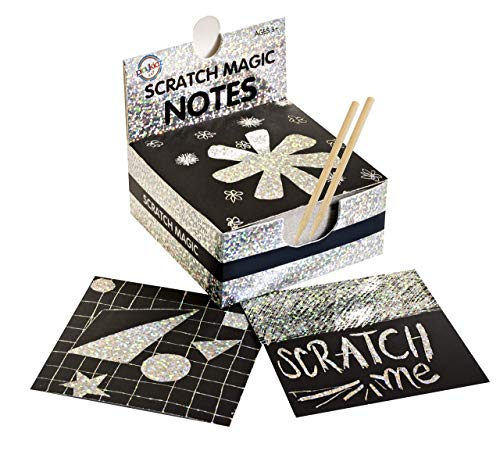 (Scratch Art Kit - Magic Scratch Off Notes & [2] Stylus Tools for Kids & Adults - 100 Black Paper Sheets - Create Colorful Holographic Cards, Bookmarks, Notes, Pictures & Other Art Without Ink )
