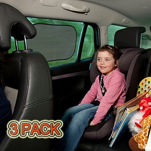 TOPELEK Parasole per Laterale e Posteriore della Finestra per i Bambini 50 x 31cm Auto Parasole Protector 3 Pack