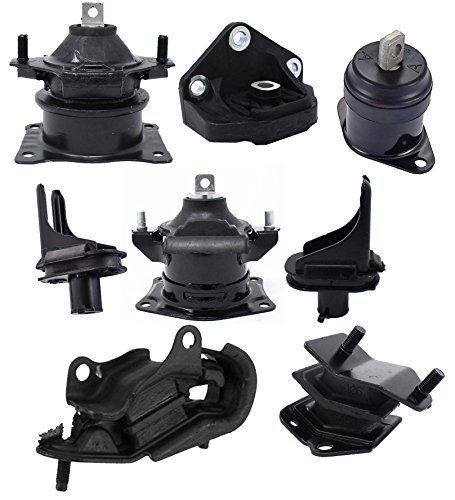 - 8pcs Engine Front Rear Center Suspension Transmission Motor Mount Kit for 2004 2005 2006 Acura Tl 3.2L Automatic