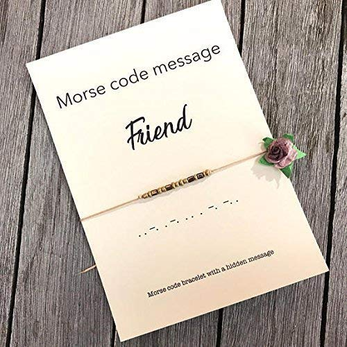 Amazon FRIEND Morse Code Bracelet Friendship Gift Birthday