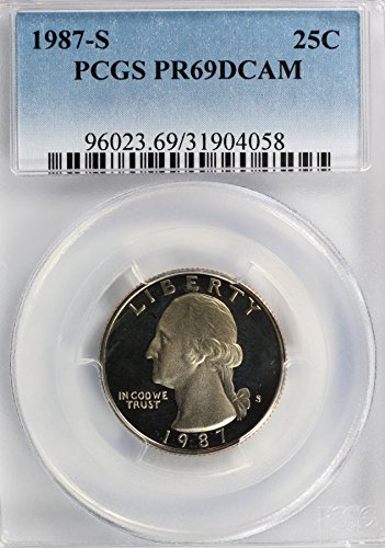 1987 S Washington Quarter PR69 PCGS DCAM