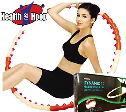 Health Hoop-Dynamic Magnetic Weighted Hoola Hula HoopFitness Diet Exercise 1.2kg 2.6lb Step 1