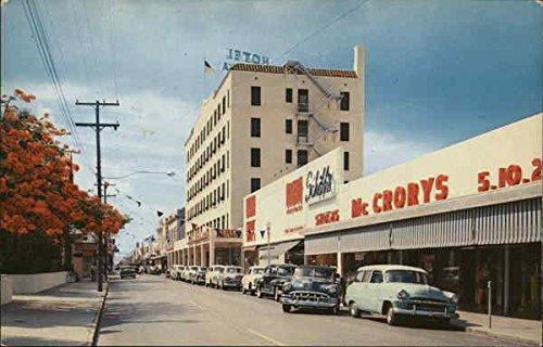 Duval Street Key West, Florida Original Vintage Postcard