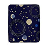 Cooper girl Solar System Planet Throw Blanket Soft Warm Bed Couch Blanket Lightweight Polyester Microfiber 50x60 Inch