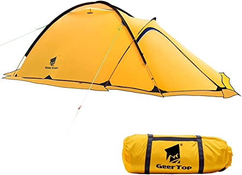 GEERTOP Portable 2 Person 4 Season Tent Waterproof Backpacking Tent Double Layer All Weather for Camping Hiking Travel Climbing Mountaineering – Easy Set Up