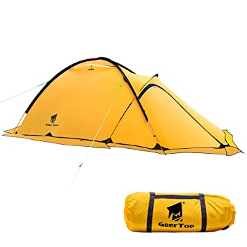 newest 1925c fc9ee Geertop Portable 2 Person 4 Season Tent Waterproof Backpacking Tent Double  Layer All Weather for Camping Hiking Travel Climbing Mountaineering - Easy  ...
