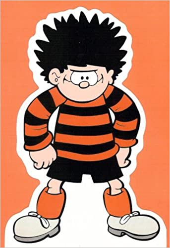 Dennis The Menace Stand Up Cut Out Card Birthday Card Or