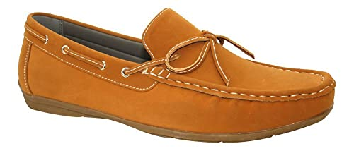 WS Mocasines tipo náutico de ante para hombre - Roberto, Marrón (marrón), 43 EU: Amazon.es: Zapatos y complementos