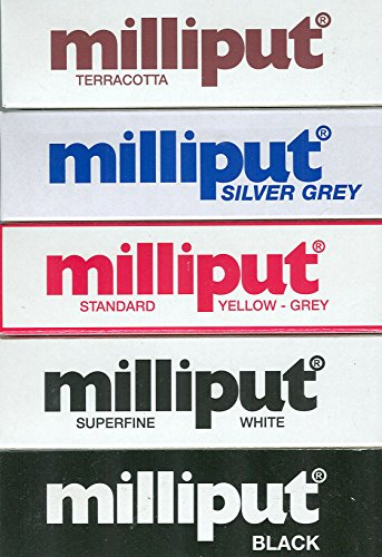 Milliput Bundle Black, White, Yellow, Silver & Terracotta (Is What Clay Terracotta)