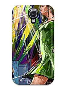 Cute Appearance Cover/tpu EMseUKo8207HhmMU Women Artistic Abstract Artistic Case For Galaxy S4 by lolosakes
