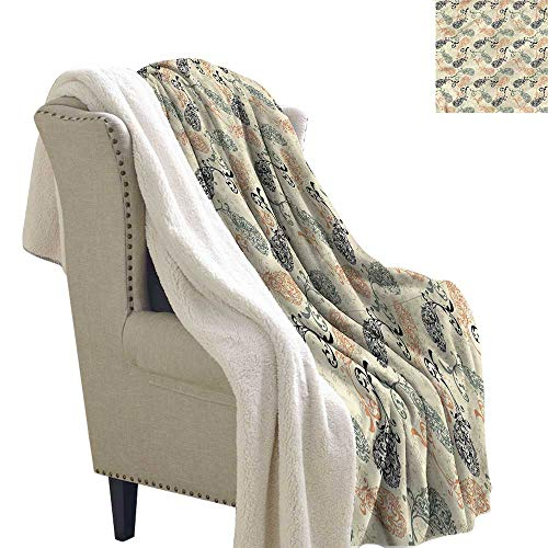 - Acelik Baby Blanket Paisley Old Paper Swirls and Curves Washable Shaggy Fleece Blanket W59 x L31