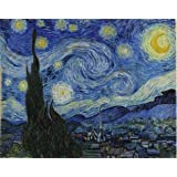 'Vincent Van Gogh-The Starry Night,1889' oil painting, 10x13 inch / 25x32 cm ,printed on high quality polyster Canvas ,this Beautiful Art Decorative Canvas Prints is perfectly suitalbe for gift for relatives and Home decor and Gifts