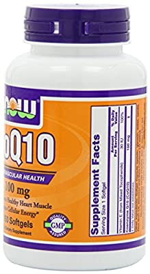 NOW Foods Coq10 100mg, 150 Softgels , Pack of 3