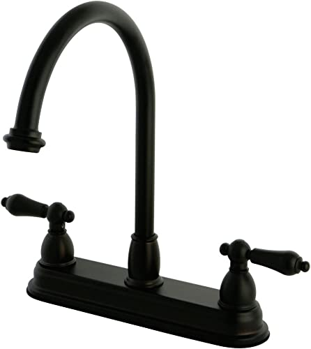 Kingston Brass KB3745AL Restoration 8-inch Centerset Kitchen Faucet without Sprayer, Oil Rubbed Bronze