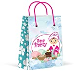 LARZN Premium Spa Party Bags, Girls Party Favor Bags, New, Treat Bags, Gift Bags,Goody Bags, Spa Party Favors, Spa Party Supplies, Decorations, 12 Pack