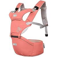 SONARIN Front Premium Hipseat Porte-bébé Baby Carrier,Multifonctionnel, Ergonomique,100% Coton, Boucle Rotative à Papillon, 6 positions de transport, Sûr et Confortable,cadeau idéal