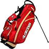Team Golf NFL San Francisco 49ers Fairway Golf Stand Bag, Lightweight, 14-way Top, Spring Action Stand, Insulated Cooler Pocket, Padded Strap, Umbrella Holder & Removable Rain Hood